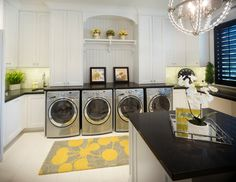 Transitional Laundry Room by Joe Carrick Design - Custom Home Design