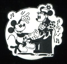 D23 2013 Expo Introducing Mickey & Minnie 1928 on a Piano LE 250 Disney Pin