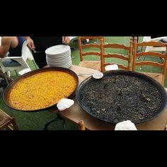 #arrozdelsenyoret o #arroznegro ... cual te apetece? #calidaddevida #playa #amoloquehago #amigos