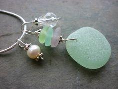 Sea Glass Necklace  Pendant