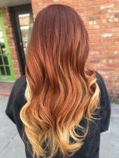 Red hair. Ombré.