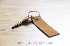 DIY LEATHER KEY FOB — And We Play | DIY For Kids