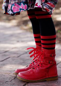 Pepe Red Prairie Boots-- Sofia would so rock this.