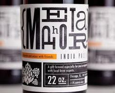 typographic beer label - Google zoeken