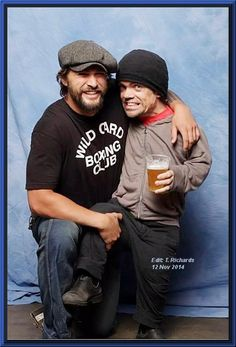 Pete & Jason Momoa having some fun.