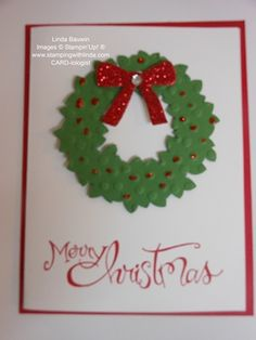 Wondrous Wreath Die (not stamps!) with an embossing folder