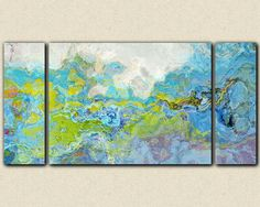 Oversize triptych contemporary abstract by FinnellFineArt on Etsy