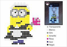Despicable Me Minion Hama perler pattern - Diy Downloads