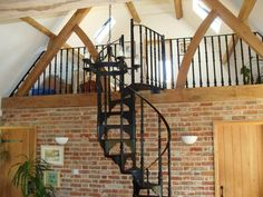 Traditional Victorian cast staircases will always be favourites for many and British Spirals & Castings will produce bespoke ones for you Rustic Staircase, Winding Staircase, Modern Staircase, Spiral Staircases, Staircase Interior Design, Interior Balcony, Interior Architecture, Traditional Staircase, Tree House Designs