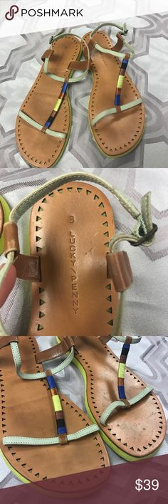 Lucky Penny by Anthropologie sz8 sandals.. Good used condition Lucky Penny by Anthropologie sz8 sandals..these show some wear but are still in overall nice condition...soles still have all original tread left... Anthropologie Shoes Sandals