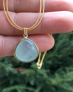 "8 mm naturel authentique rare à Rayures Bleu Agate Bead Gemstone Collier 18/"" AAA"