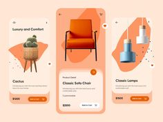 Furniture Detail Page Mobile App-UX/UI Design by Hira Riaz on Dribbble Design Page, App Ui Design, Mobile App Design, Diy Design, Mobile Ui, Interface Design, Portfolio Design, Mise En Page Portfolio, Diy Ikea Hacks