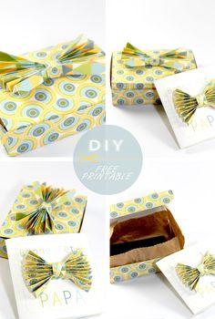 free printable father day gift box boite cadeau fête des père gratuit 6