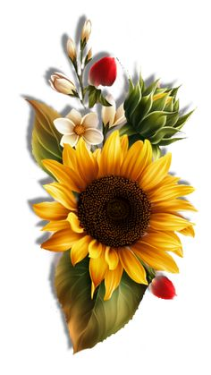Autumn by KmyGraphic Wallpaper Nature Flowers, Sunflower Wallpaper, Flower Phone Wallpaper, Sunflower Drawing, Sunflower Art, Art Floral, Glass Painting Patterns, Sunflower Pictures, Vintage Flowers