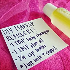DIY Makeup Remover (LIKE)                                                                                                                                                     More