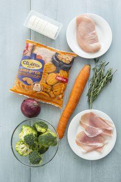 Geroosterde aardappeltjes en groenten met gevulde kip uit de Airfryer - Leuke recepten Air Flyer, Fresh Rolls, 1, Cooking, Ethnic Recipes, Food, Cucina, Kochen, Essen