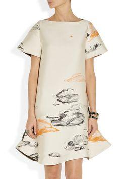 Vika Gazinskaya|Dropped-waist jacquard dress