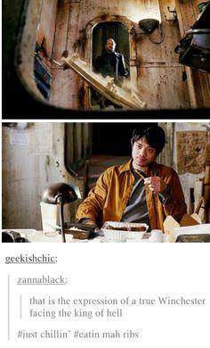 A true Winchester #Supernatural #KevinTran #Crowley