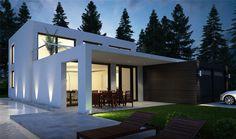 OSLO DONACASA 240 m2 , Hormigón celular con trasdosado tejado plano