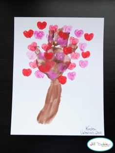 A smaller version of the hand and hearts. Read The Giving Tree the same day. (Other V-Day resources on this site too)