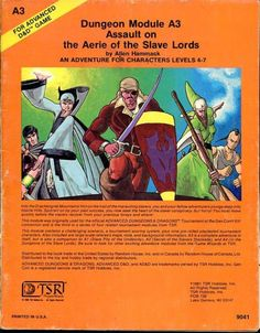 Assault on the Aerie of the Slave Lords FC 1981