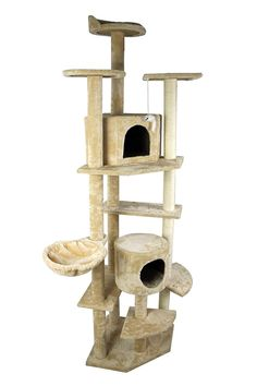Cat Tree Tower Condo Furniture Scratch Post Kitty cat House Play Furniture Sisal Pole and Stairs (Beige) from FLA ** Don't get left behind, see this great cat product : Cat Tree and Tower Cat Tree Condo, Cat Condo, Homemade Cat Tower, Furniture Scratches, Bed With Posts, Cat Activity, Condo Furniture, Cat Towers, Unique Cats