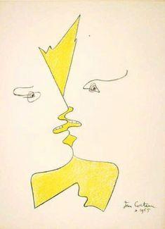 Untitled     Jean Cocteau     Date: 1955     Style: Expressionism     Genre: design
