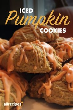 "Iced Pumpkin Cookies | ""The cookie by itself is just good. By adding cinnamon to the frosting and sprinkling chopped pecans on top it rates outstanding."" #cookies #cookierecipes #bakingrecipes #dessertrecipes #cookieideas Iced Pumpkin Cookies, Pumpkin Cookie Recipe, Baking Recipes, Cookie Recipes, Dessert Recipes, Canned Pumpkin, Pumpkin Puree, Desserts To Make, Food To Make"