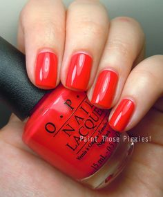 OPI Cajun Shrimp. A red with warm pink AND orange. love this!!