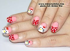 Askmewhats: Nail Art Tutorial: Hello Kitty Nails...Meow!