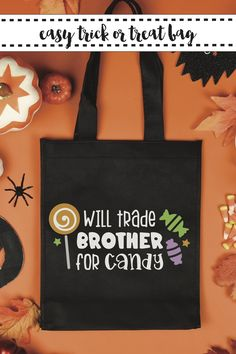 Make this fun last minute Halloween Treat Bag with the easy DIY from Everyday Party Magazine! #halloweentreat #HalloweenBag #CricutCreated