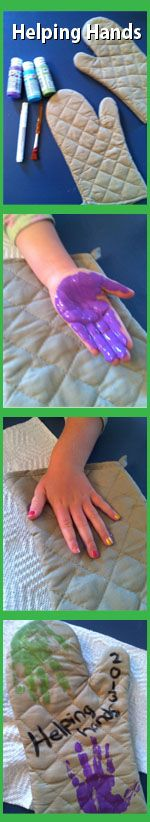 Helping Hands Oven Mitts. The perfect Thanksgiving project and/or holiday gift!