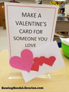 February Passive Program: Make a Valentine's Card for Someone You Love Teen Library, Elementary Library, Library Ideas, Teen Programs, Library Programs, Library Center, Creative Teaching, Teaching Ideas, Information Literacy
