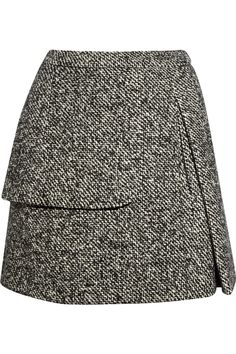 Wool-blend tweed mini-skirt - Carven. Just when you thought nothing new could be done with a mini-skirt, Carven throws this in your face. And you THANK them.