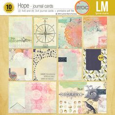 Hope Journal Cards by Lynne-Marie at The Lilypad