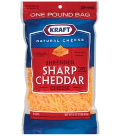 Kraft Natural Shredded Sharp Cheddar cheese received high marks from volunteers Yellow Foods, Disneyland Food, Cheese Snacks, Healthy Groceries, Best Cheese, Cold Meals, Cheddar Cheese, Carne, Snack Recipes