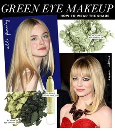We're green with envy over Elle Fanning's and Emma Stone's green eye makeup.