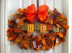 Harvest Thanksgiving Wreath