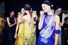 Backstage: Vera Wang Spring 2014 #NYFW #FashionWeek