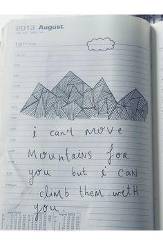 words :: mountain :: illustration :: love