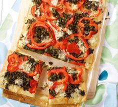 Paprika-Pizza Paprika Pizza, Peppers Pizza, Tasty, Yummy Food, Bruschetta, Vegetable Pizza, Chili, Veggies, Dinner