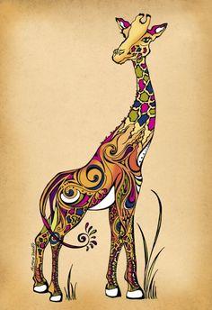 Girafa http://www.onthewall.com.br/ilustracao/girafa