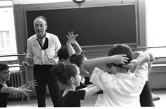 "New York City Ballet - George Balanchine rehearses children from the School of American Ballet for roles in ""Don Quixote"", choreography by George Balanchine (New York)"