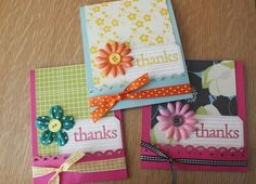 thank you cards...simple design