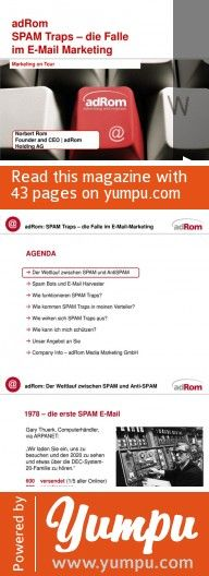 adRom Spam Verhinderung im E-Mail Marketing - Magazine with 43 pages: