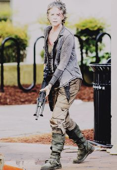 And of course Carol, the biggest gray-haired badass on the planet. No time for root touch ups in the zombie apocalypse.