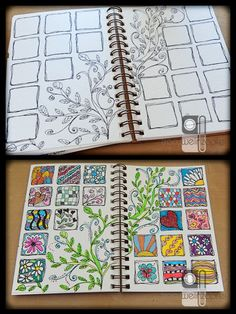 Creative Practice: Drawing Inspiration - great exercise for improving drawing skills for anyone regardless of skill. Ideas for the art journal or bullet journal, scrapbook designs or bujo inspiration Kunstjournal Inspiration, Art Journal Inspiration, Journal Ideas, Creative Inspiration, Creative Ideas, Fun Ideas, Doodles Zentangles, Zentangle Patterns, Art Journal Pages