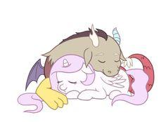 Celestia and Discord as babies