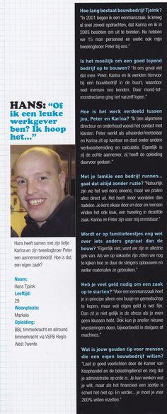Hans Tjoink bouwbedrijf.