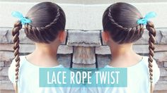 How to : Lace Rope Twist | Beginner Hairstyle | Brown Haired Bliss